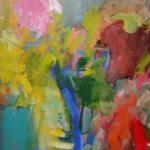 'In a Garden in Summer' (1999) oil on board 61x45cm  £1150