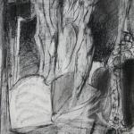 'Seeking 2' (2008) conté on paper 39x31cm  £400